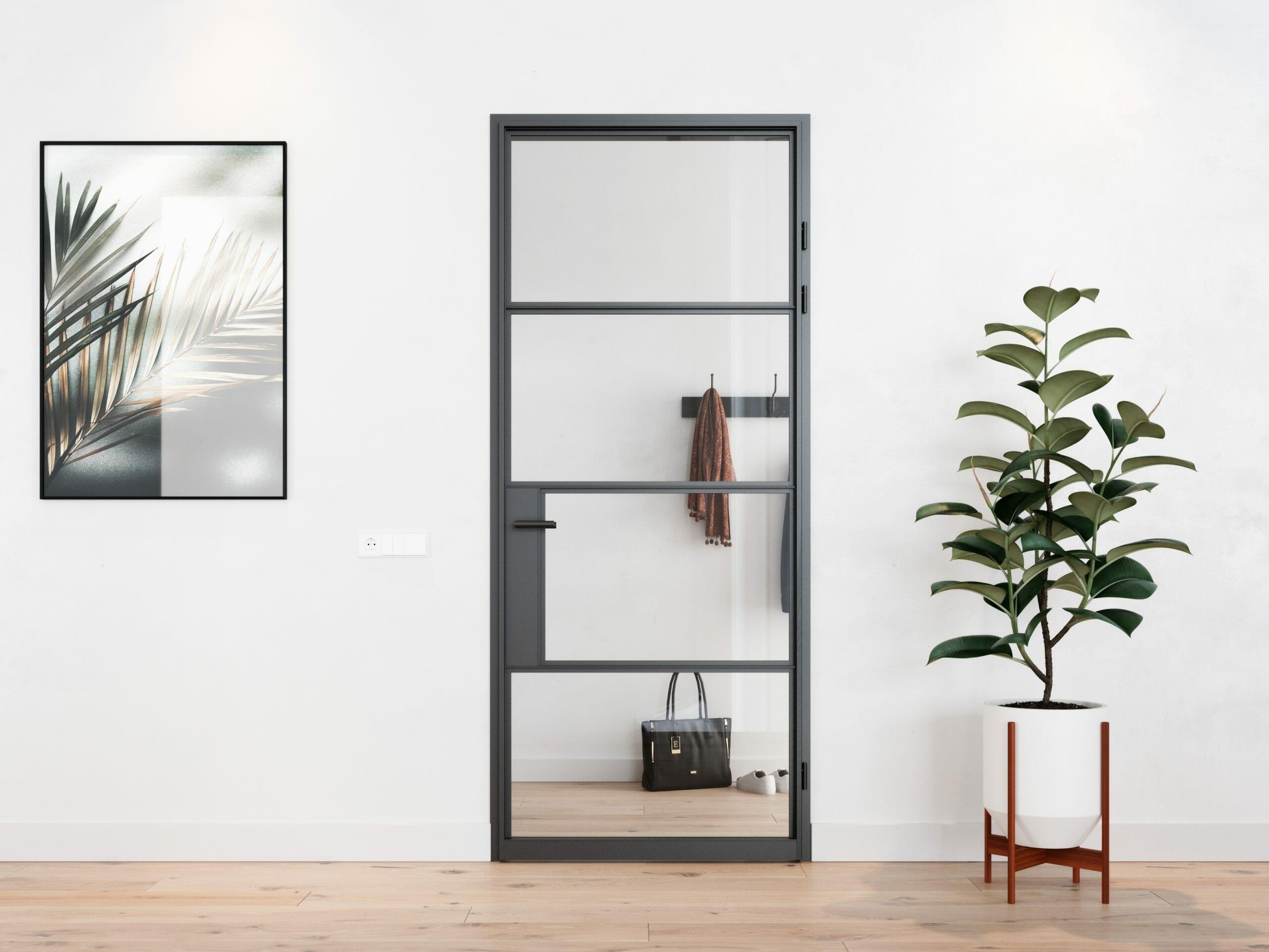 Interieur visualisatie stalen deur